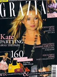 Contributing Editor, Grazia Australia. 2008-2009. Editing, hiring staff and writing features.